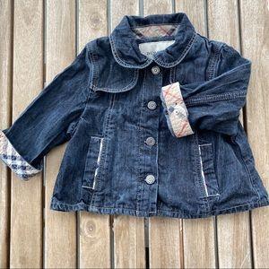 Vest jacket denim 9 / 12 months Burberry girl